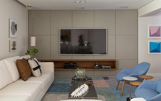 apartamento roberta banqueri 03 - Casa Vogue - Apartamento com tons suaves e menos móveis dita nova fase da família
